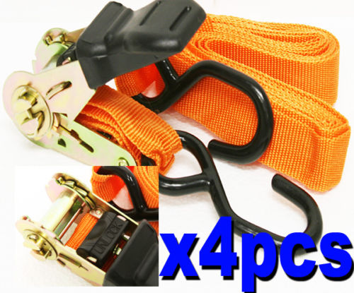 4 Piece Set Ratchet Tie Downs Straps