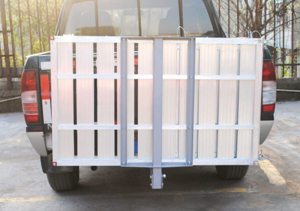 "49""L X 29""W Aluminum Platform with Folding Tilt Up Feature for Parking and Storage"