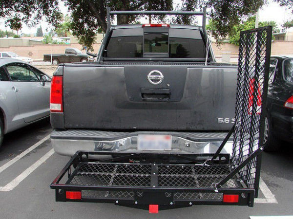 500 Lb Steel Heavy Duty Wheelchair Mobility Scooter Tow Hitch Carrier Loading Ramp Vertical