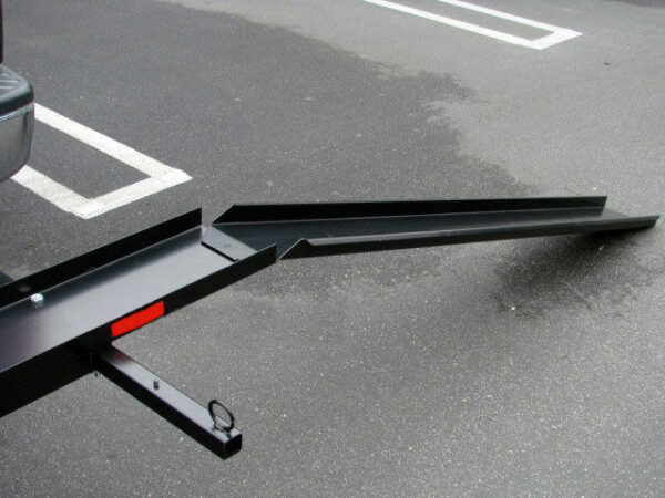 600 Lb Motorcycle Hitch Carrier Rack with Loading Ramp