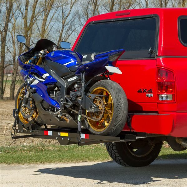 600 Lb Steel Motorcycle Dirt Bike Sport Bike Hitch Carrier Rack