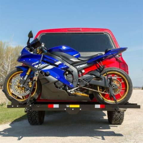 600 lb Steel Motorcycle Dirt Bike Sport Bike Scooter Hitch Carrier Rack