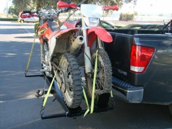 Dual Double Dirt Bike Dirtbike Motorcycle Scooter Tow Hitch Mount Carrier Rack Hauler Trailer