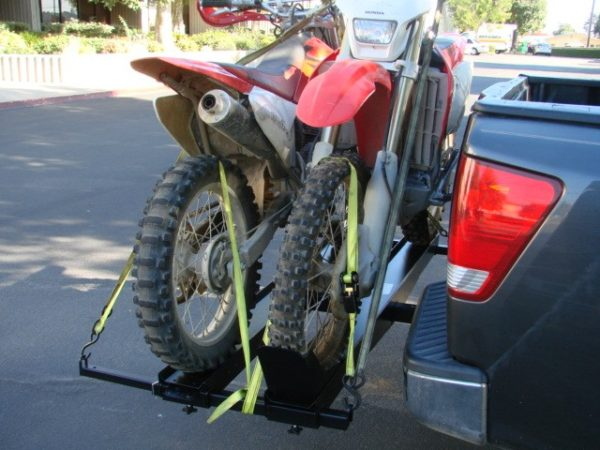 Dual Double Motorcycle Dirtbike Tow Hitch Receiver Carrier Rack Hauler