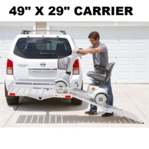 "49""L X 29""W Alum. Wheelchair Scooter Mobility Foldable Carrier"