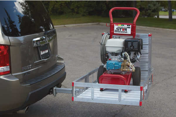 "XL 49""L X 29""W Aluminum Wheelchair Mobility Scooter Folding Tow Hitch Carrier Rack Side Loaded"
