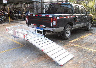 "XL 49""L X 29""W Aluminum Wheelchair Mobility Scooter Folding Tow Hitch Carrier Rack Side"