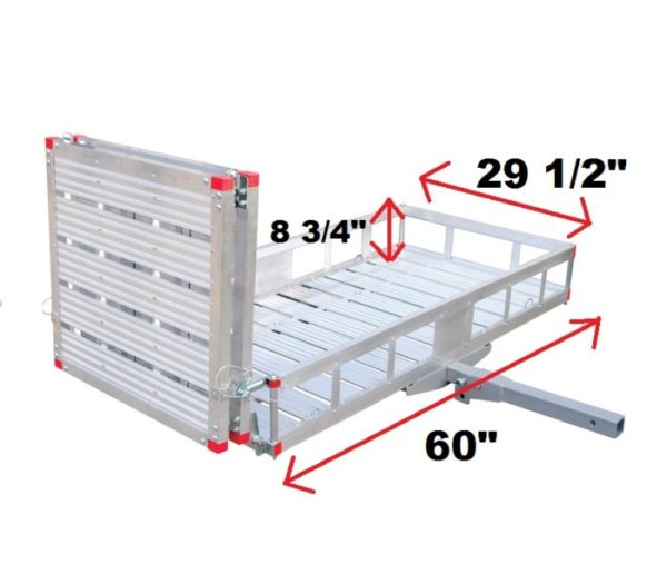 """XL 60"""" X 29"""" Wheelchair Mobility Scooter Folding Tow Hitch Carrier Rack Lift Ramp Dimensions"""