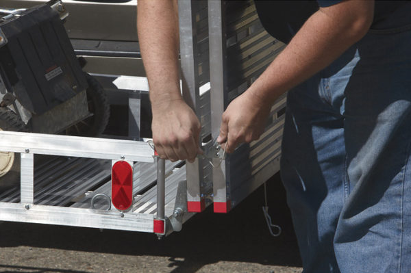 BiFold Loading Ramp Locks for Safety