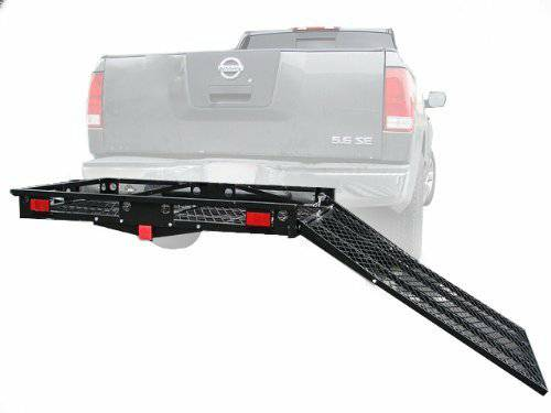 XL Steel Heavy Duty 500 Lb Wheelchair Mobility Scooter Tow Hitch Car Bumper Carrier Rack Loading Ramp for Easy Use