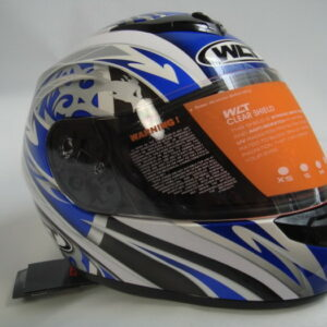 wma full face motorcycle helmet whiteblue