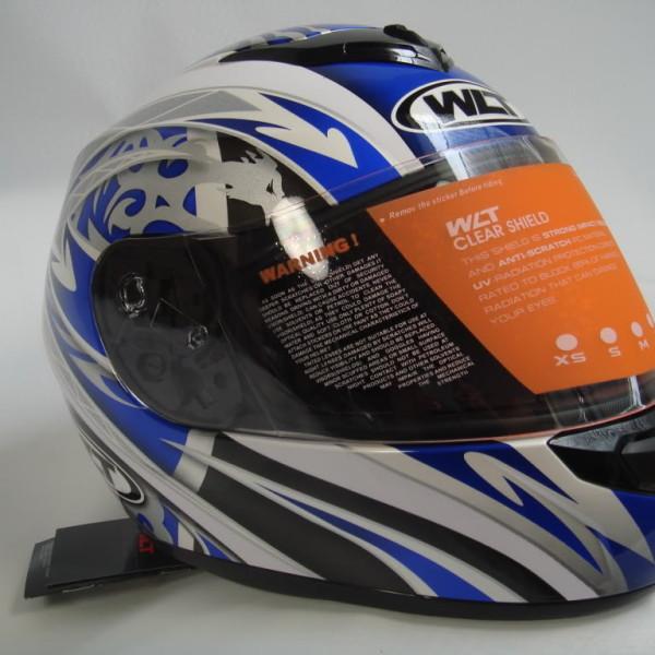 wma full face motorcycle helmet whiteblue