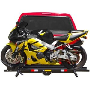 "Heavy Duty Steel 600 lb Motorcycle Dirt Bike Scooter 2"" Hitch Carrier Rack"