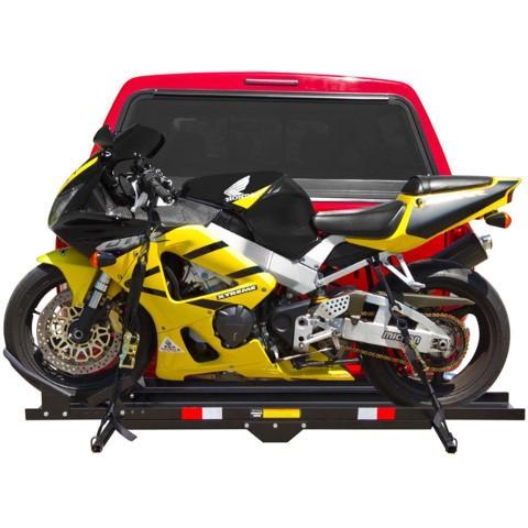 """Heavy Duty Steel 600 lb Motorcycle Dirt Bike Scooter 2"""" Hitch Carrier Rack"""