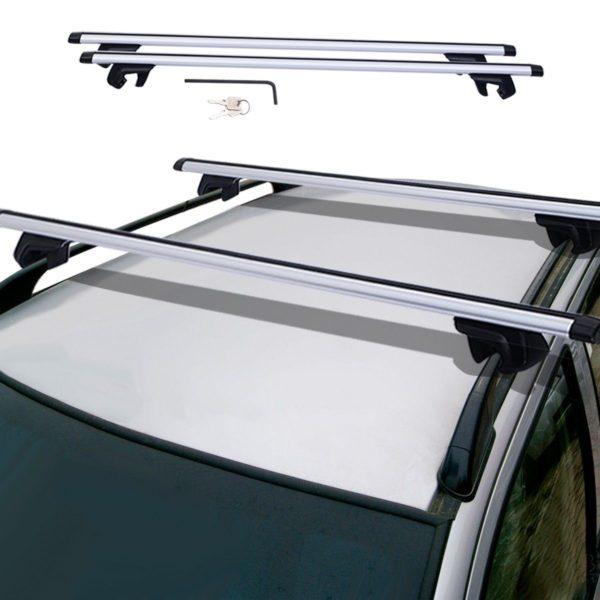Crossbars for Roof Rack Top Luggage Cross Bars Clamp Set With Lock Car Van Suv
