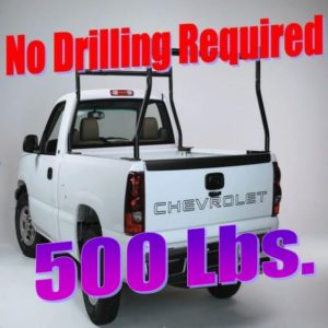 500 lb 2 Pc Set Universal Fit Boltless Pickup Truck Ladder Rack No Drill Drilling Clamp On