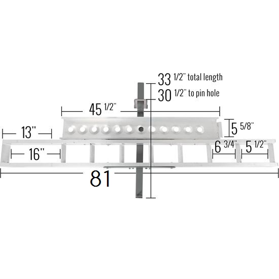 Aluminum Hitch Carrier Dimensions