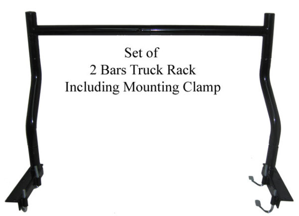 Set of 2 Bar Truck Rack Including Mounting J Hook Clamps