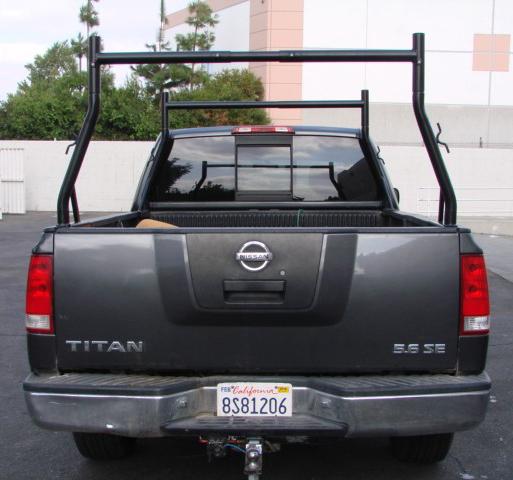Truck Pickup Universal Adjustable Ladder Lumber Rack 800 lb Set Rear View