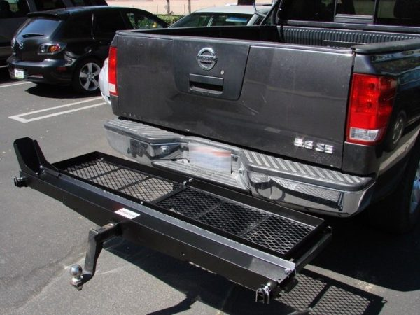 1000 lb Capacity Motorcycle Scooter Dirt Bike Tow Hitch Carrier Rack with Gas Can Cargo Storage Shelf Basket