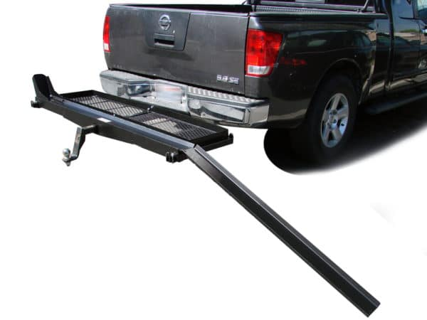1000 lb Capacity Motorcycle Scooter Dirt Bike Tow Hitch Carrier Rack with Cargo Storage Shelf Basket