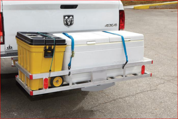 "Aluminum 60'x22"" Tow Hitch Cargo Carrier Rack Basket Hauler 1"