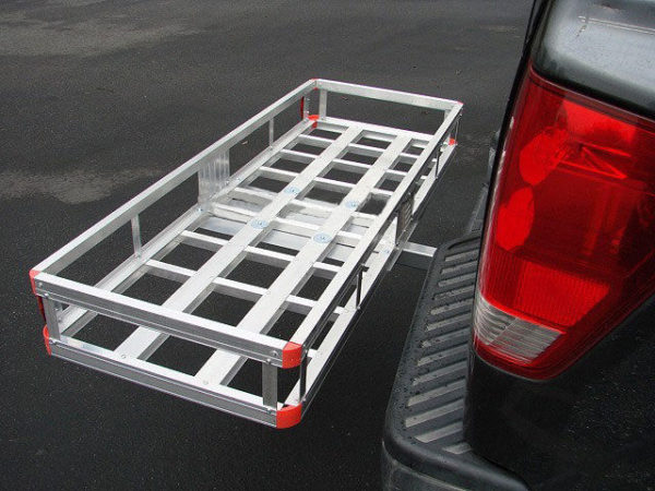"Aluminum 60'x22"" Tow Hitch Cargo Carrier Rack Basket Hauler Rear"