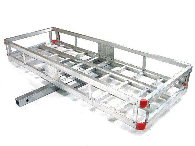 TRIL GEAR 60 x 22 Hitch-Mount Aluminum Cargo Carrier Mounted Basket Luggage Rack 500LBS Capacity