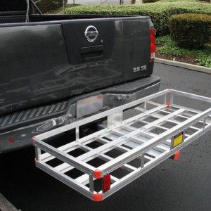 "Aluminum 60'x22"" Tow Hitch Cargo Carrier Rack Basket Hauler"
