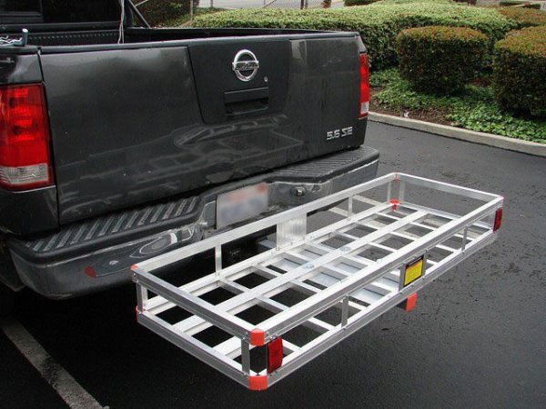 "Aluminum 60'x22"" Tow Hitch Cargo Carrier Rack Basket Hauler"