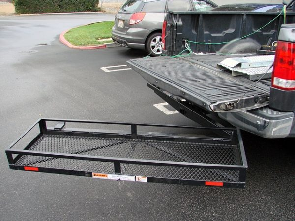 Swing Stowaway Carrier Rack Basket Box for Tow Hitch Receiver