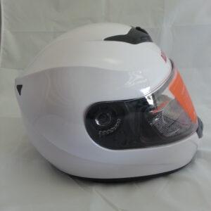 New Glossy White Full Face Helmet