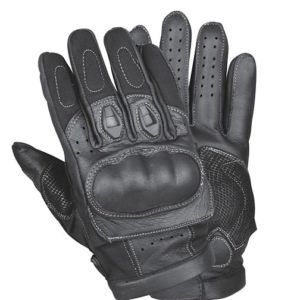 Mens Leather Padded Palm Racing Gloves