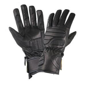 Men's Black Leather Premium Padded Riding Gloves