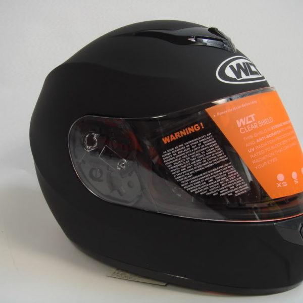 New Matte Black Full Face Helmet