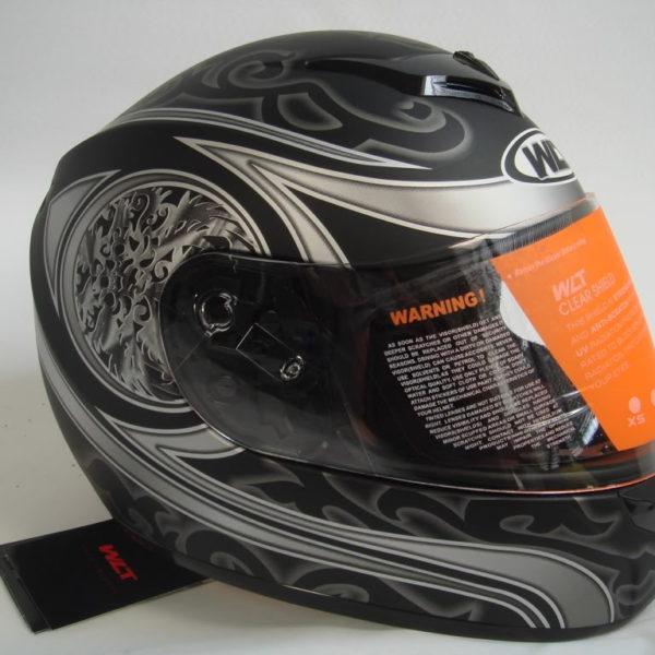 New Silver/Black Full Face Helmet