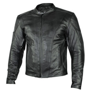 Mens Motorcycle Leather Jacket with Gun Pockets