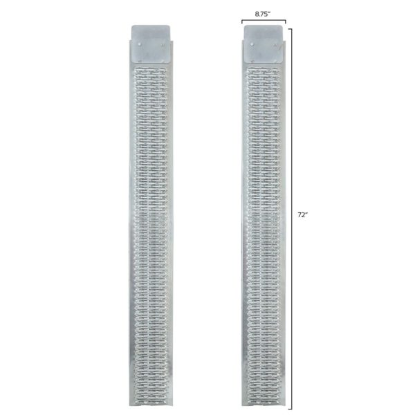72 in. L x 9 in. W Steel, Set of Two