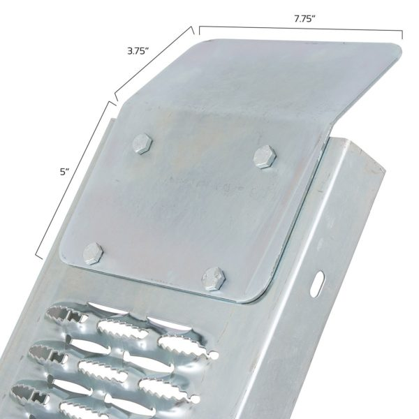 Angle brackets for secure placement on truck beds