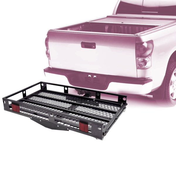500 Lb Tilt Up Hitch Wheelchair Mobility Scooter Carrier Lift Rack with Easy to Use Loading Ramp