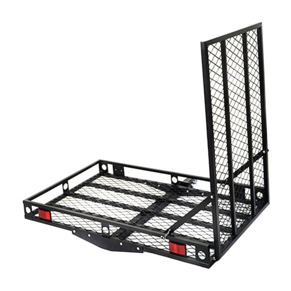 Steel Folding Wheelchair Mobility Scooter Hitch Carrier Lift with Easy to Use Loading Ramp