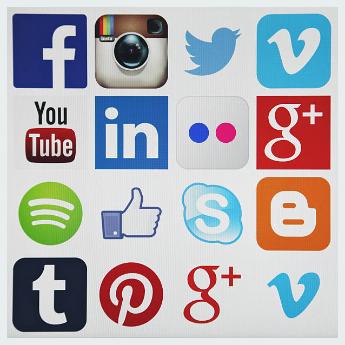 Twitter, Instagram, Facebook, YouTube, Google plus, Pintress logo