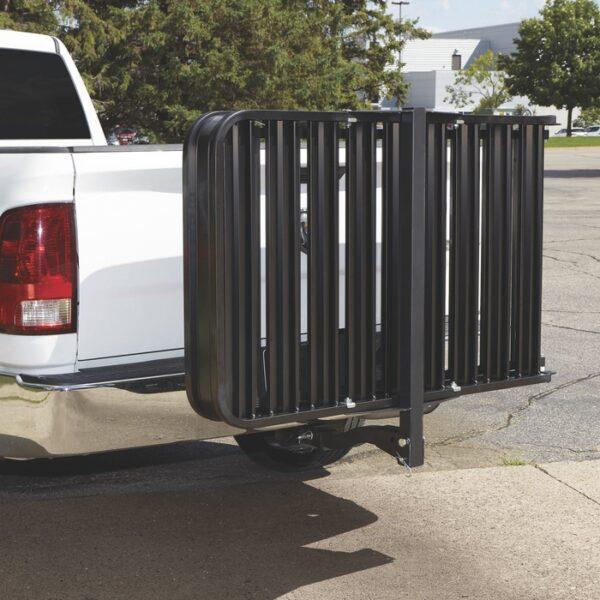 "XL 50""L X 30""W Aluminum Wheelchair Mobility Scooter Black Folding Hitch Carrier Rack Tilt Up"