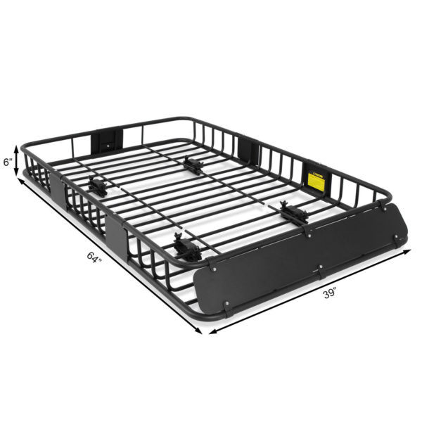 """XL 64"""" x 39"""" Roof Top Luggage Car Carrier Cargo Basket"""