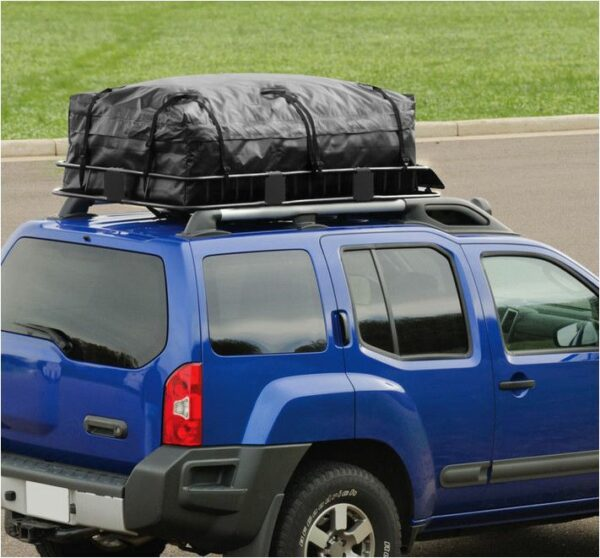 Roof Top Cargo Basket Mounted to SUV