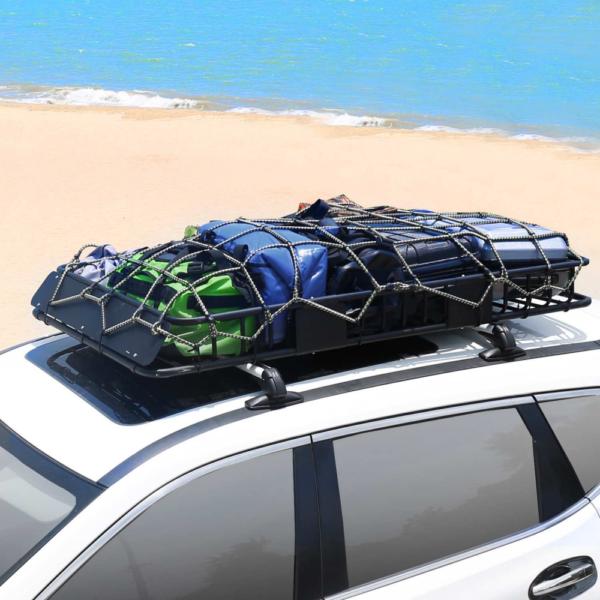 XL Roof Top Cargo Basket CrossBars Top View