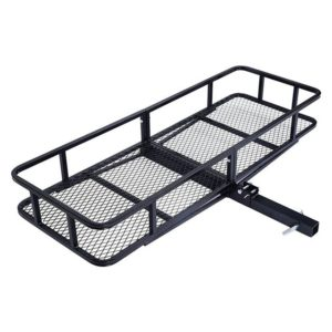 500 Lb 60 x 20 Folding Tow Hitch Cargo Carrier Rack Basket Hauler