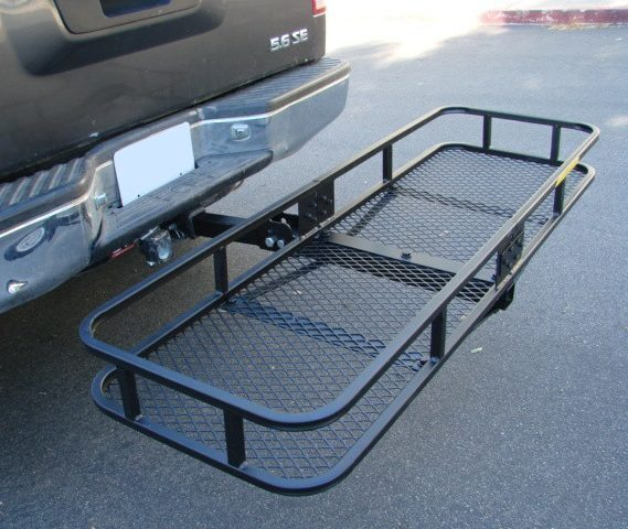 Tow Hitch Cargo Carrier Trailer Basket Luggage Rack For SUV Heavy Duty Travel