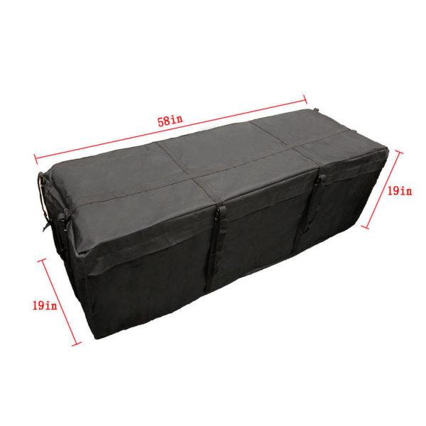 "58"" Inch x 19"" Inch x 19"" Inch Waterproof Cargo Carrier Storage Bag Dimension"