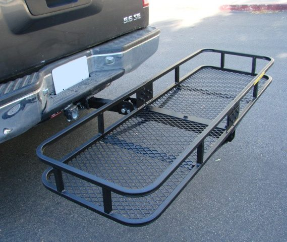 Tow Hitch Cargo Carrier Rack Basket Hauler 1